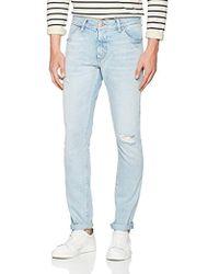 476d2455 Wrangler Colton Hard Edge Tapered Jeans in Dark Denim in Blue for Men - Lyst