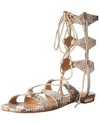 3c478fdde5d7 Lyst - Schutz Erlina Lace Up Sandals - Prata in Metallic