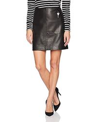 Kenneth Cole - Leather Seamed Mini-skirt - Lyst