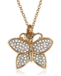 "Juicy Couture - Pave Butterfly Necklace, 31.21"" - Lyst"
