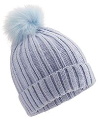 708ac71498e692 Grevi Blue Faux Fur Cossack Hat in Blue - Lyst