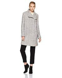 Kenneth Cole - Asymmetrical Pressed Boucle Wool With Snap Closures - Lyst