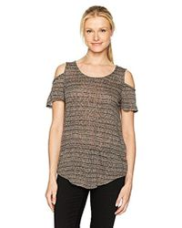 Lucky Brand - Stripe Cold Shoulder Top - Lyst