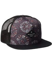 703b10159d5 Lyst - Quiksilver No Pressure Trucker Hat in Black for Men