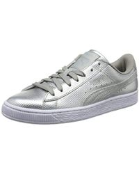 875415c3622 PUMA - Unisex Adults  Basket Classic Holographic Low-top Trainers