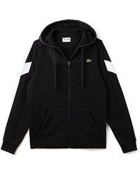 Lacoste - Tennis Brushed Fleece/taffetas Full Zip Hoodie Sweatshirt - Lyst
