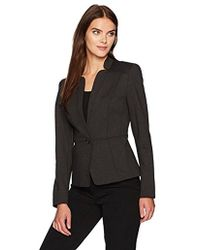 Nine West - 1 Button Solid Ponte Jacket - Lyst