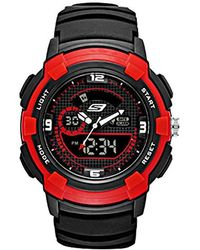 Skechers - Quartz Plastic And Polyurethane Casual Watch, Color:black (model: Sr1074) - Lyst