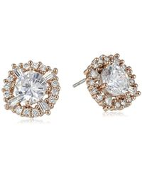 Anne Klein - Hey Cubic Zirconia Elevated Stud Earrings - Lyst
