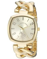 U.S. POLO ASSN. - Quartz Metal And Alloy Casual Watch, Color:gold-toned (model: Usc40250az) - Lyst