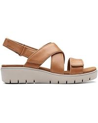 Clarks - Un Karely Dew Womens Wedge Heel Sandals - Lyst