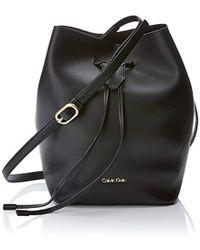 Calvin Klein - Rev Medium Bucket, 's Cross-body Bag, Black, 15x28x20 Cm (b X H T) - Lyst