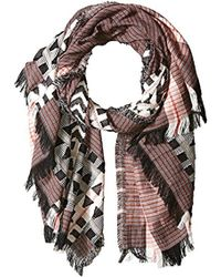 French Connection - Dona Patterned Scarf - Lyst