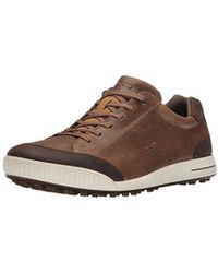 Ecco - Street Retro Hydromax (birch/coffee) Men's Golf Shoes - Lyst