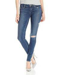 PAIGE - Verdugo Ultra Skinny Jeans-silas Destructed - Lyst