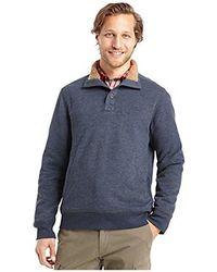 G.H.BASS - Madawaska Button Mock Long Sleeve Fleece - Lyst