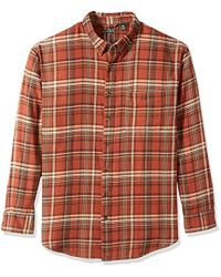 G.H. Bass & Co. - Big And Tall Fireside Flannel Plaid Long Sleeve Shirt, Arabian Spice, 4x-large Big - Lyst