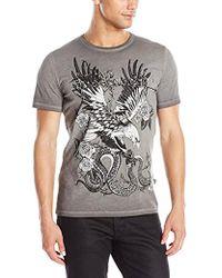Just Cavalli - Eagle's Serpant Slim Fit Tee Shirt - Lyst