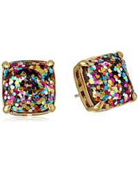 Kate Spade - Square Glitter Stud Earrings - Lyst