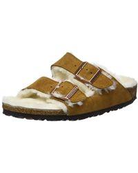 Birkenstock - Unisex Adults' Arizona Mink Open Toe Sandals - Lyst
