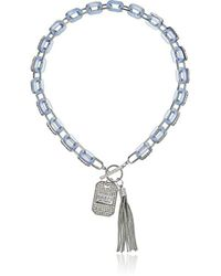 Guess - S Resin Link Toggle Necklace With Charm And Tassel - Lyst