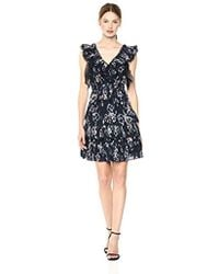 Rebecca Taylor - Sleeveless Faded Floral Dress - Lyst