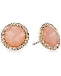 Fossil - Shimmer Glass Stone Stud Earrings - Lyst