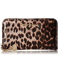 Betsey Johnson - Women Lady Lace Leopard Zip Around Wallet With Slip Pockets For Credit Cards - Lyst