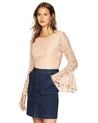Adrianna Papell - Lace Top With Dramatic Bell Sleeve - Lyst