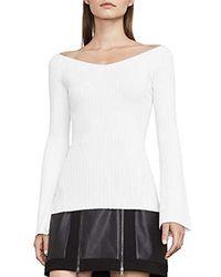 BCBGMAXAZRIA - Zoee Off-the-shoulder Sweater - Lyst