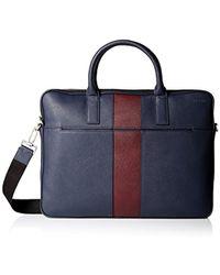 Jack Spade - Striped Barrow Leather Portfolio Brief - Lyst