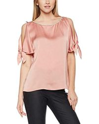 4a54c12e5acc88 Dorothy Perkins - Embellished Neck Cold Shoulder Blouse - Lyst
