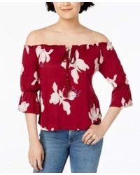 b1396589ce0 Lucky Brand - Floral Print Off-shoulder Top - Lyst