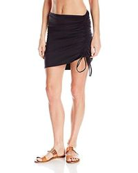 Kenneth Cole - Weave Your Own Way Solid Side Adjustable Skirt Cover Up - Lyst