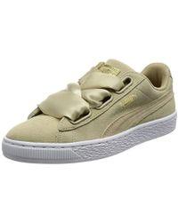 798f2a78d7f Puma Suede Heart Safari Wns Women s Shoes (trainers) In Beige in ...