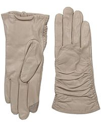 Adrienne Vittadini - Supple Leather Touchscreen Gloves - Lyst