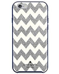 Kate Spade - Iphone 6s Case [shock Absorbing] Cover Fits Both Iphone 6, Iphone 6s - Chevron Silver Glitter / Cream - Lyst