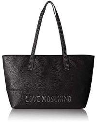 Love Moschino Borsa Grain Pu Tote - Black