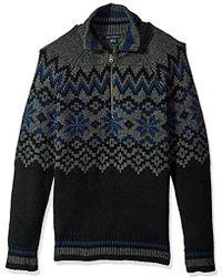 French Connection - Ski Fairisle Half Zip Sweater - Lyst
