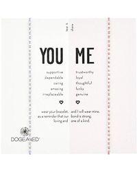 Dogeared - S Ss Pink/lavender Friendship Bracelet, Silver, 9 - Lyst