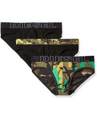 DIESEL - 3-pack Andre Cotton Stretch Briefs - Lyst