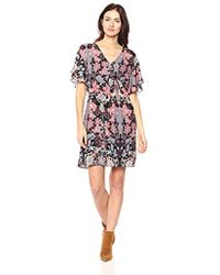 Ella Moon - Aster Flutter Sleeve Empire Dress - Lyst