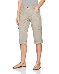 Lee Jeans - Relaxed Fit Skye Knit Waist Cargo Capri Pant - Lyst