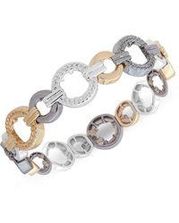 Nine West - Tri-tone Stretch Bracelet, Size 0 - Lyst