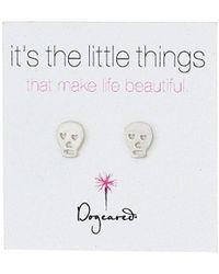 """Dogeared - """"it's The Little Things"""" Skull Post Earrings - Lyst"""