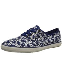 17369c1d5e74ec Lyst - Keds Womens Champion Oxford Sneakers in Blue