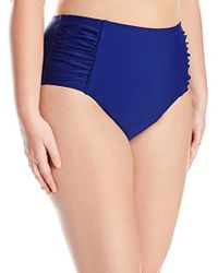 Jessica Simpson - Plus Size Solid Shirred High Waisted Bottom - Lyst