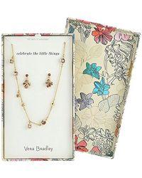 Vera Bradley - S Holiday Sparkle Jewelry Set, Gold Tone - Lyst