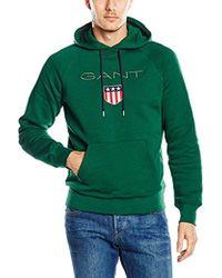 GANT - Shield Hoodie - Lyst