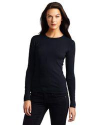 Three Dots - Long-sleeve Crew-neck T-shirt - Lyst